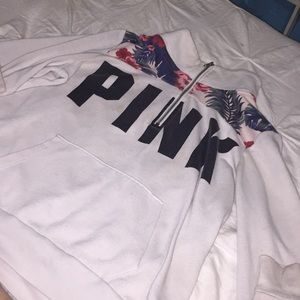 pink victorias secret turtle neck jacket
